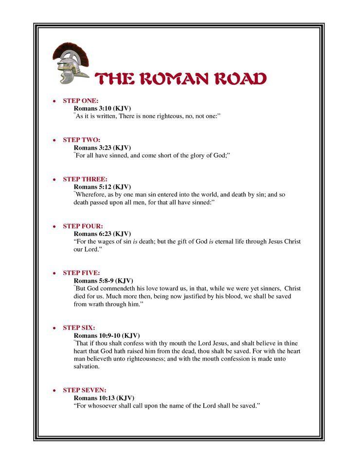 photo regarding Romans Road Kjv Printable named Impression outcome for romans street in the direction of salvation kjv Mine Roman