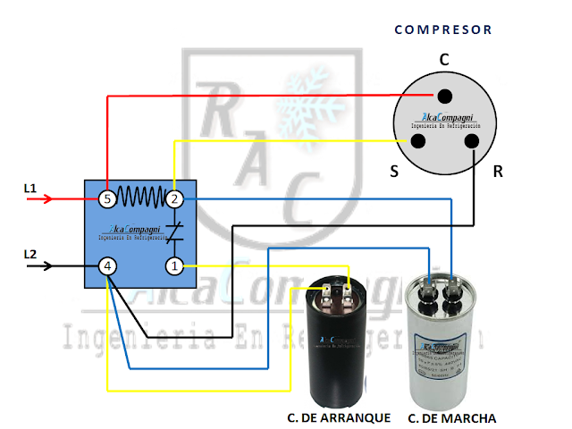 RELÉ POTENCIAL Refrigeracion y aire