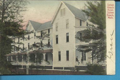 1908 Whitehall Montague Sylvan Beach Hotel Michigan Picture