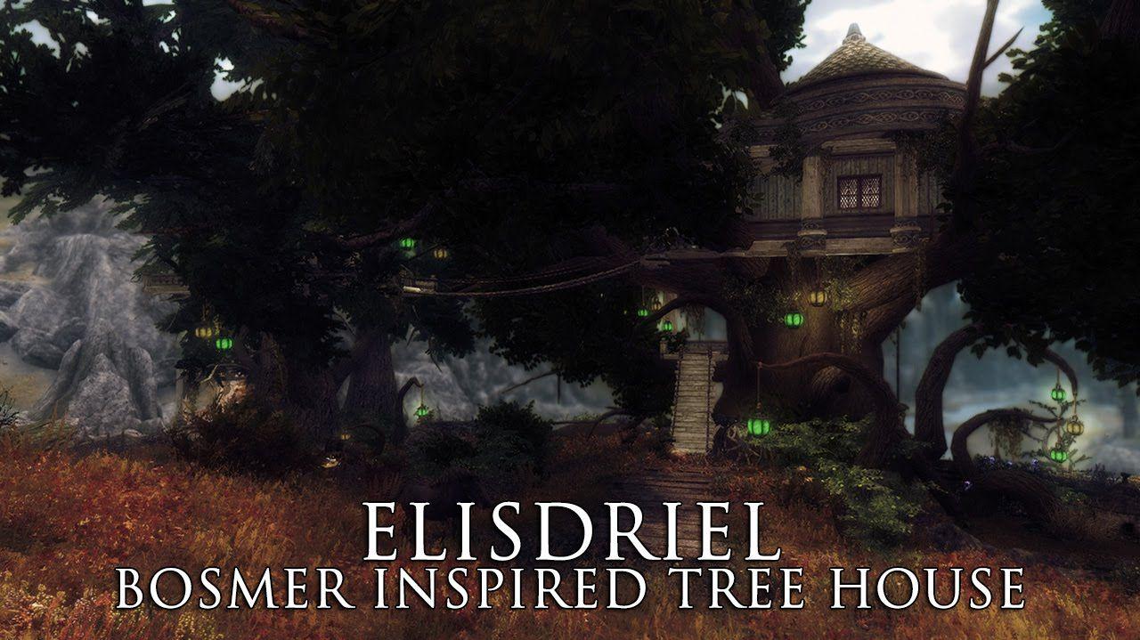 TES V - Skyrim Mods: Elisdriel - Bosmer inspired tree house