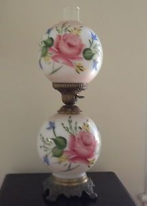 Antique Rose Double Globe Lamp Globe Lamps Lamp Light
