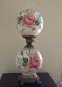 Antique Rose Double Globe Lamp