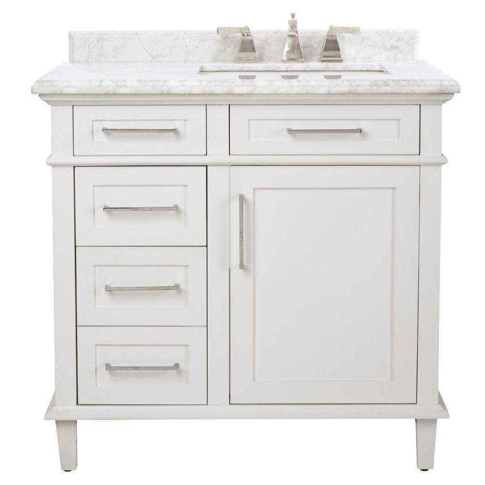 Gallery For Photographers Home Decorators Collection Sonoma in Vanity in White with Marble Vanity Top in Grey