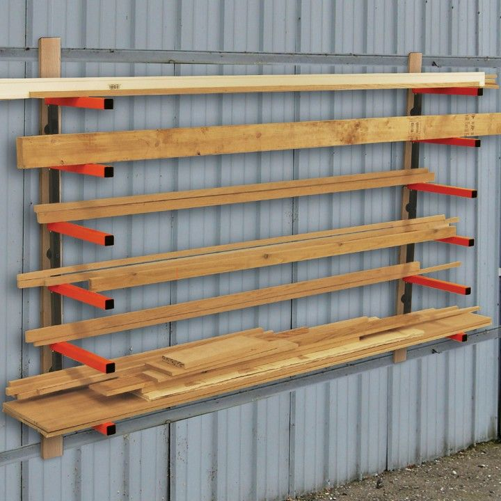 Wall Mount Lumber Rack Great Shop Addition I Have A Small Shop