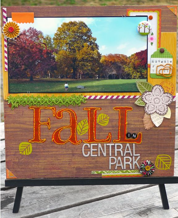 Fall In Central Park - Scrapbook.com