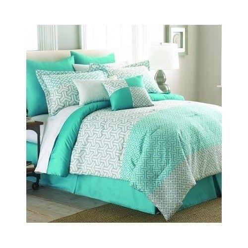 green comforter set queen king bed mint comforters bedding blanket beds ensemble - Comforters Queen
