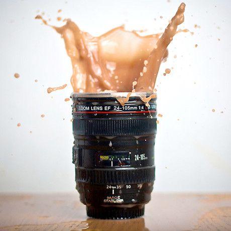 Sweet mug in action mode!!! #camera lens mug #mug #gadget