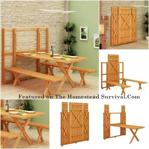 Pull Down Picnic Table As Featured On The Homestead Survival
