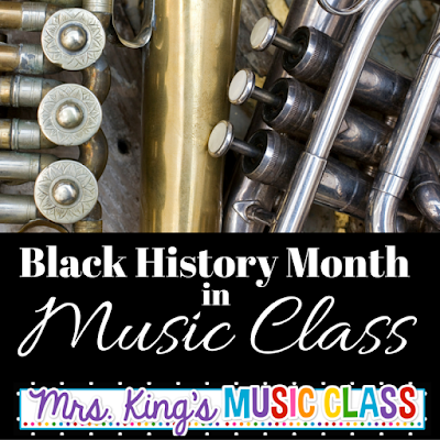 Photo of Black History Month in Music Class