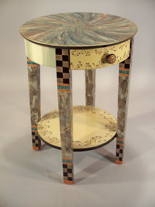Whimsical Painted Furniture A More Formal Elegant Version Of Mary Engelbreit Look Very Nice