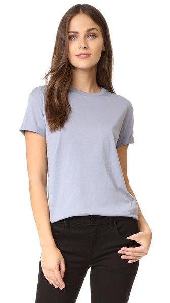 T BY ALEXANDER WANG Superfine Tee. #tbyalexanderwang #cloth #dress #top #shirt #sweater #skirt #beachwear #activewear