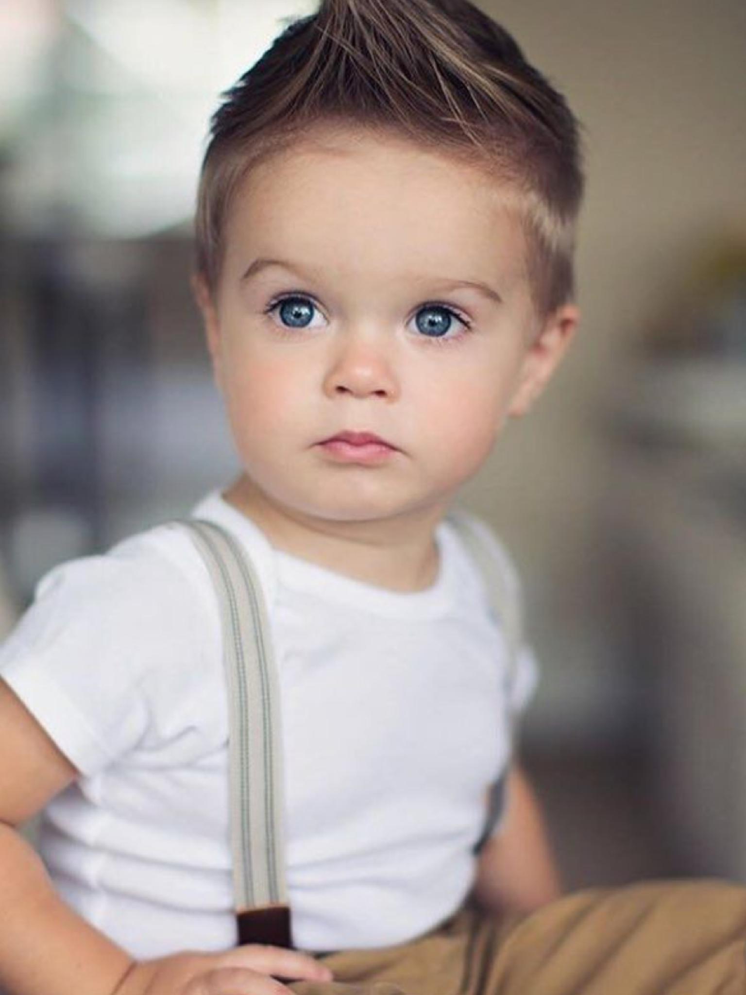 so adorable.   leo hair   baby boy hairstyles, toddler boy