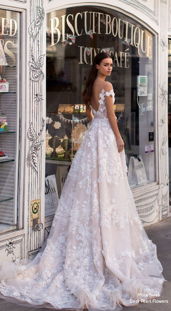 Milla Nova Blooming London Wedding Dresses 2019 #weddingdress