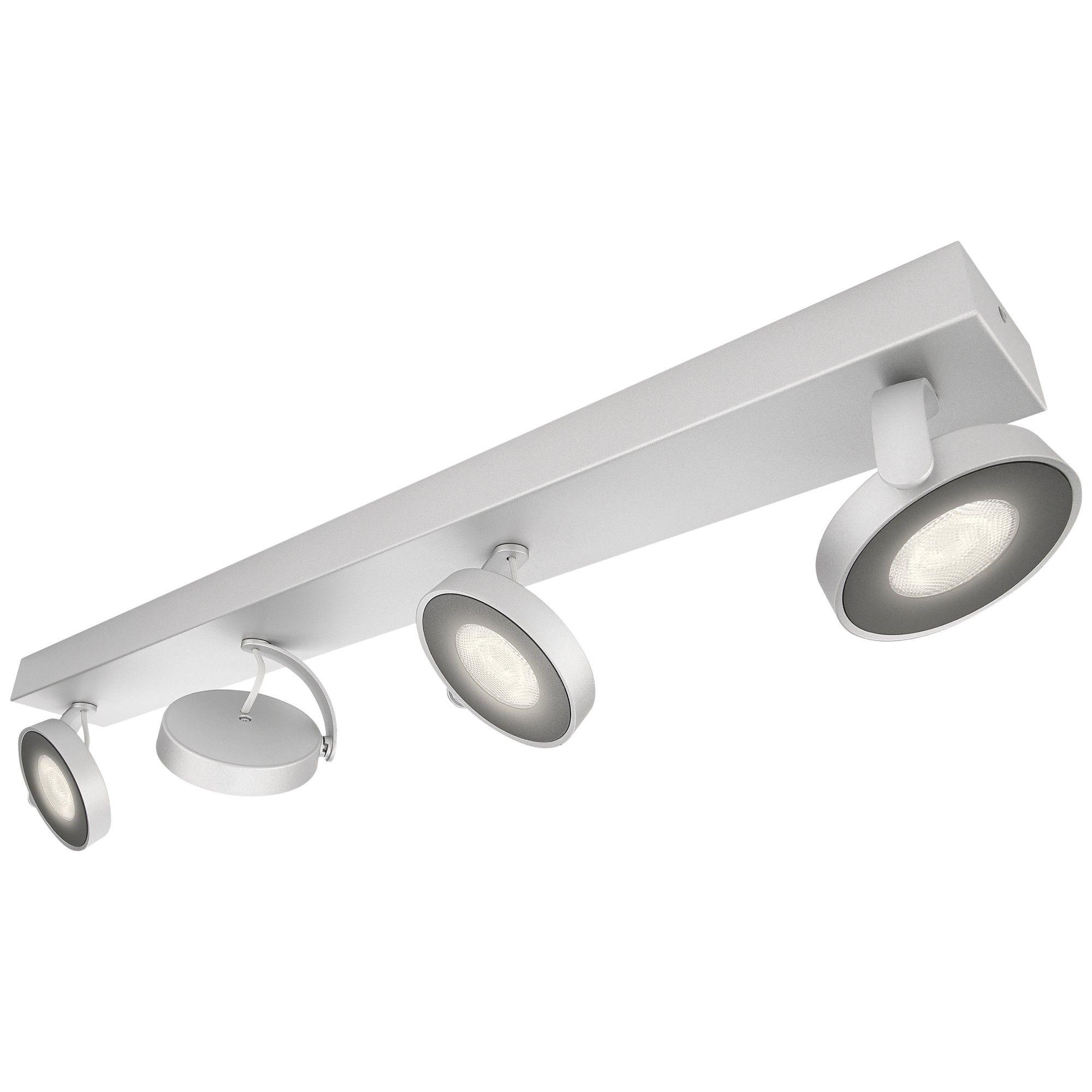 Philips myLiving Clockwork LED 4 Spotlights, White, White ... for Spotlight Interior Led  197uhy