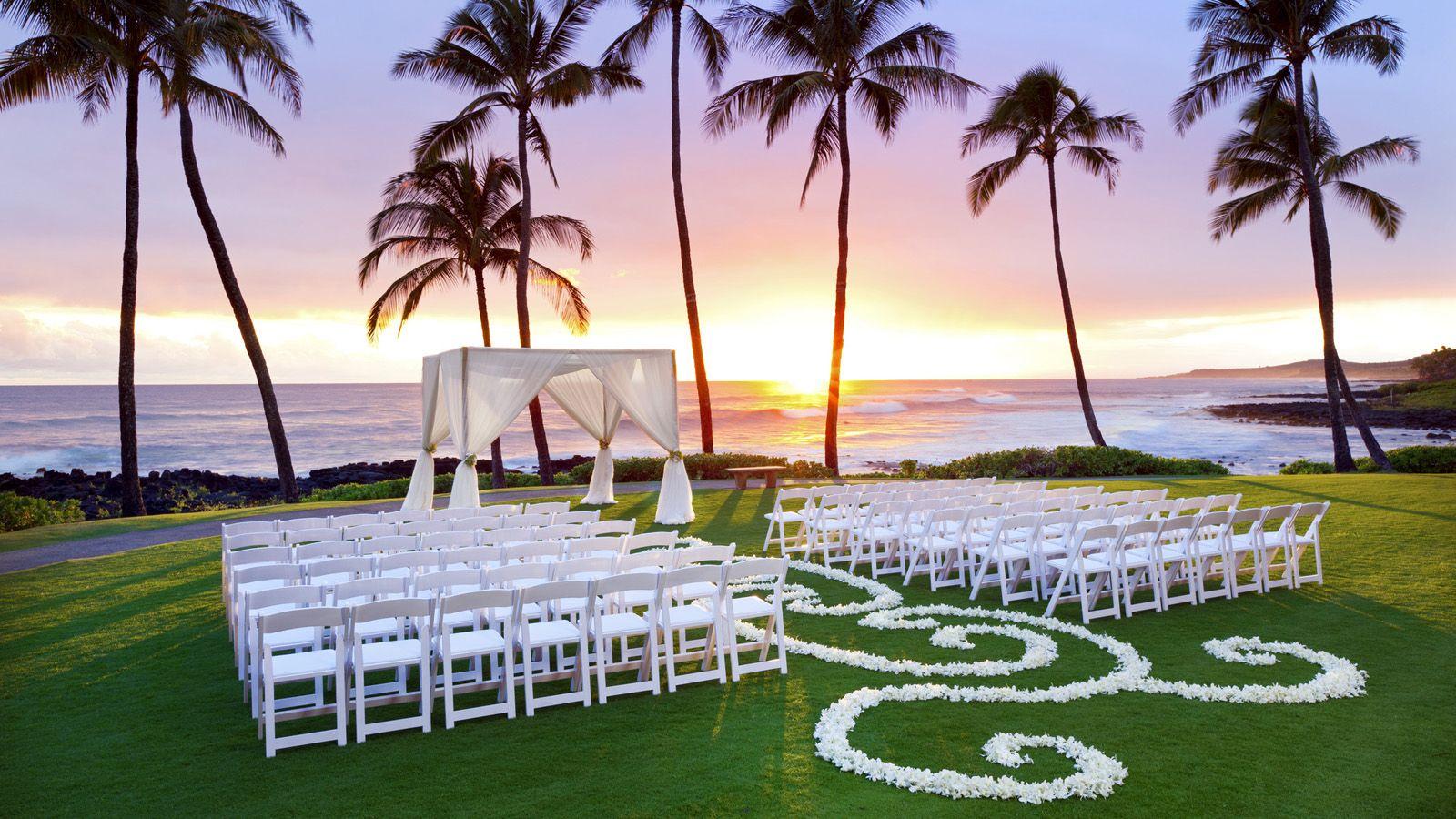 Sheraton Kauai Resort - Hawaiian Beach Wedding # ...
