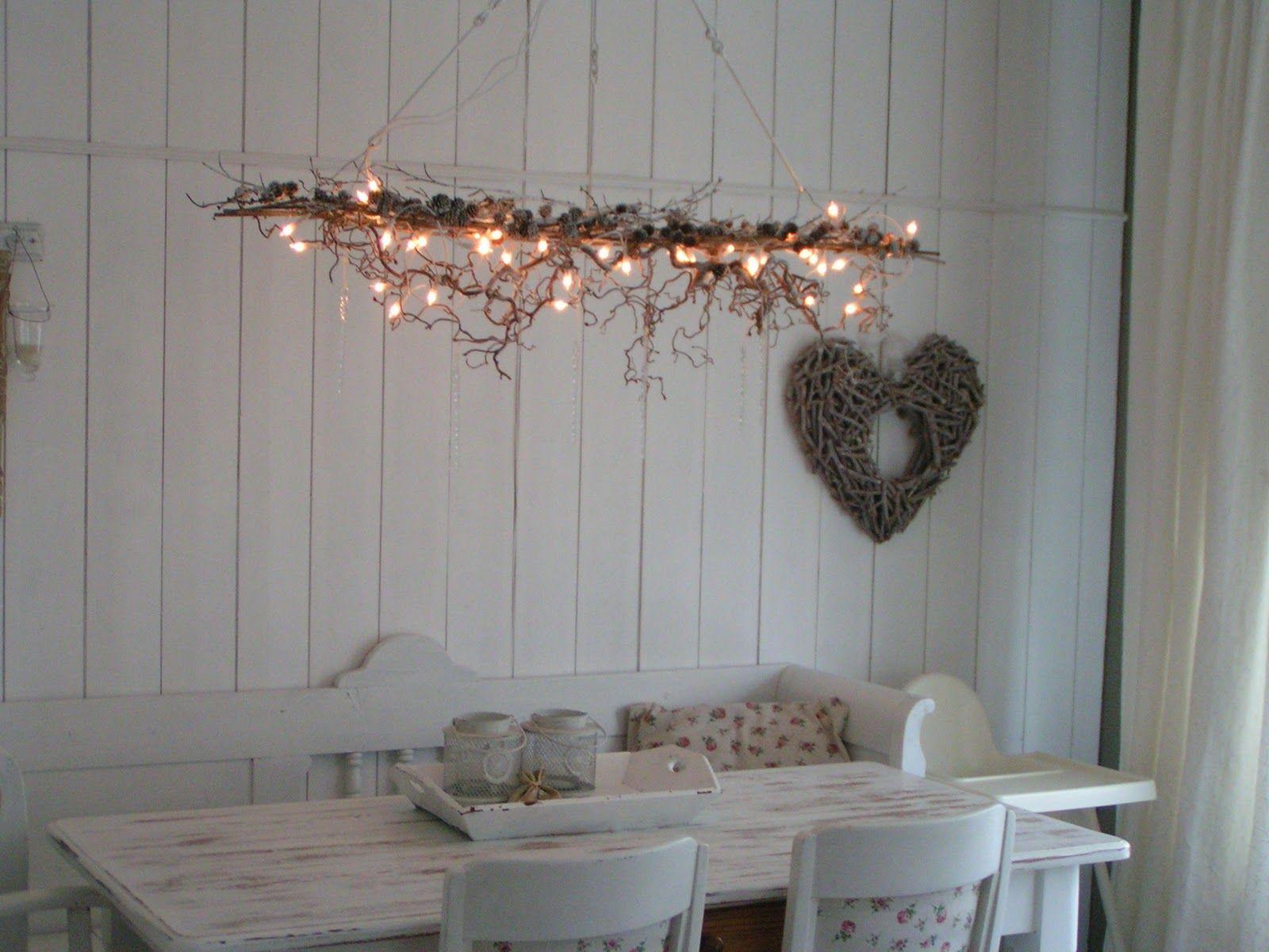 takken lamp met sfeerverlichting   decoratie takken   Pinterest