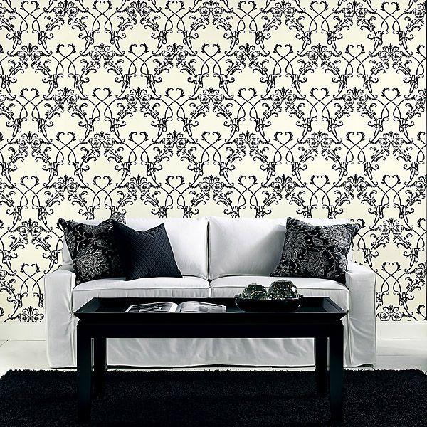 Black White Decor With A Black And White Lattice Wallpaper 283