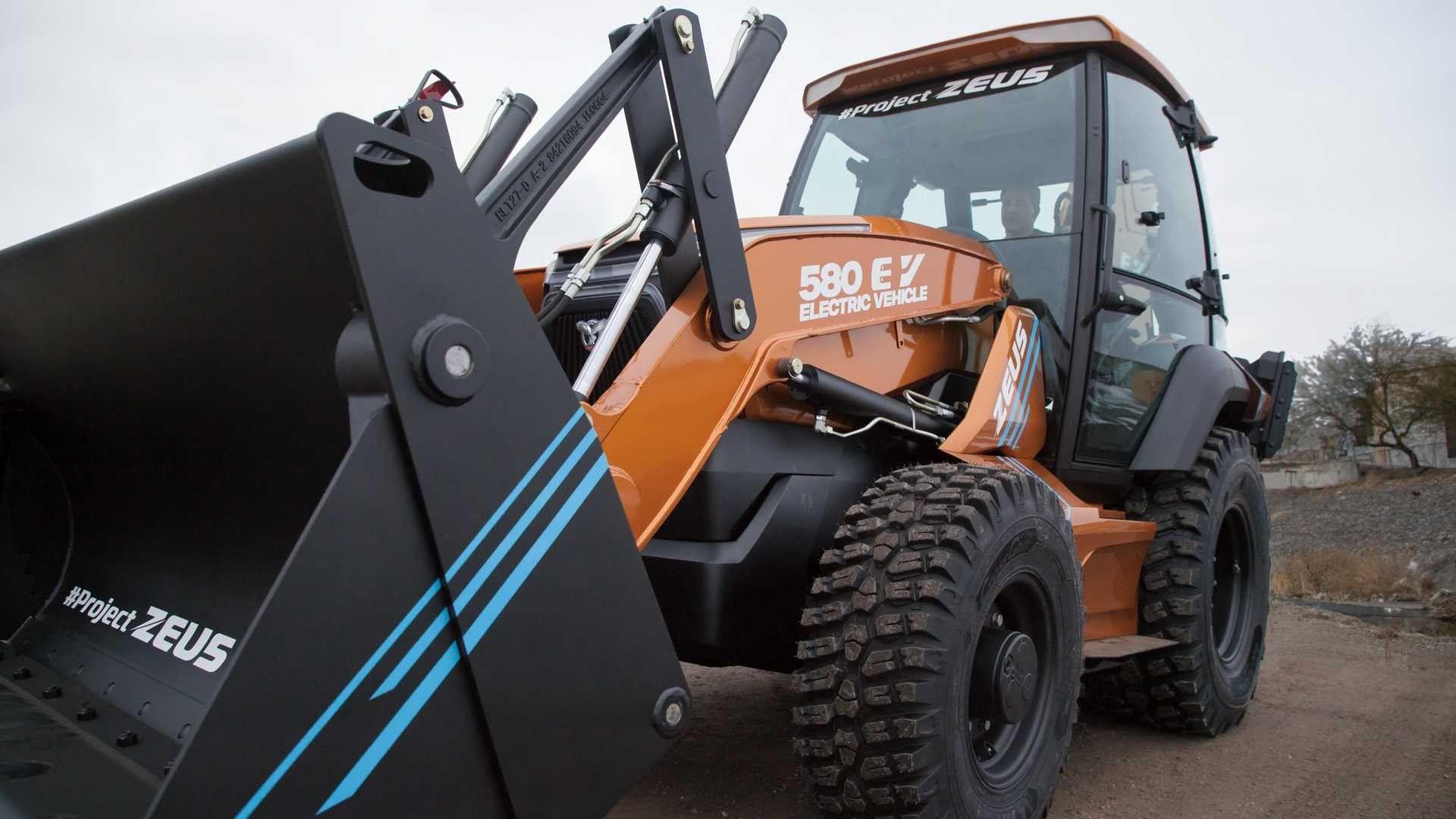 Case 580 EV Fully Electric Backhoe in 2020 Backhoe