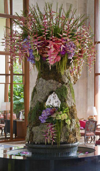 Mandarin Oriental Bangkok Hotel Lobby Their Floral Piece