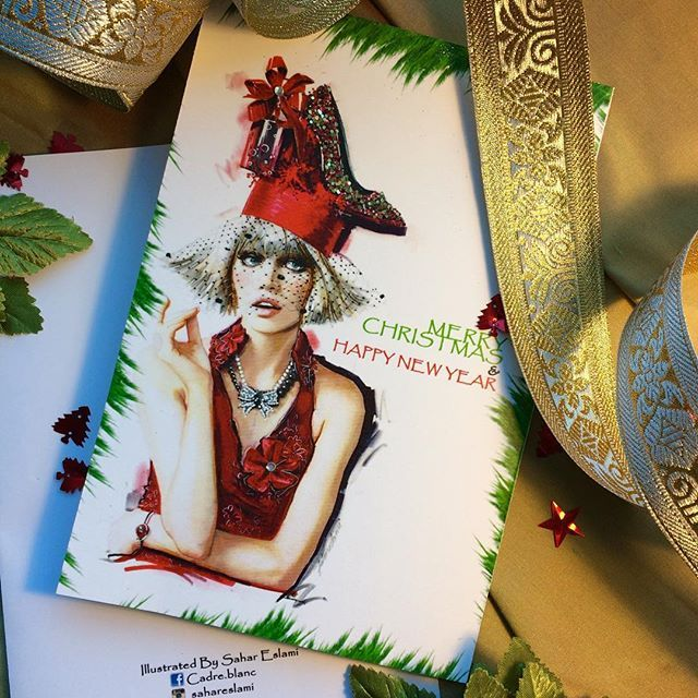 A little smile. A word of cheer. A bit of love from someone near. A little gift from one held dear. Best wishes for the coming year. These make a Merry Christmas! #christmas #newyeareve #happytime #vancouverbc #canada🇨🇦 #illustration #fashionillustration #designerlife #modafashion #sketchbook #ribbon #joy #greatful #illustrationtechniques #fashiondesigner #fashionillustrator