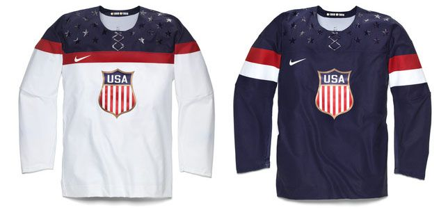 Nike 2014 Usa Olympic Hockey Jersey Usa Hockey Usa Hockey Jersey Team Usa Hockey