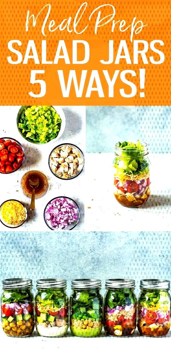 5 Mix and Match Mason Jar Salad Recipes for Easy Lunches!  - Cooking -
