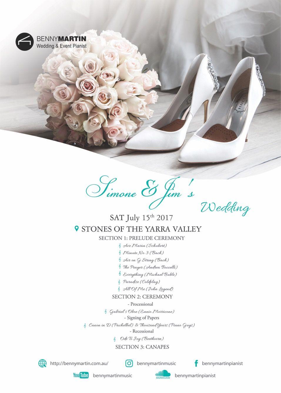 Wedding ceremony set list wedding piano pinterest weddings