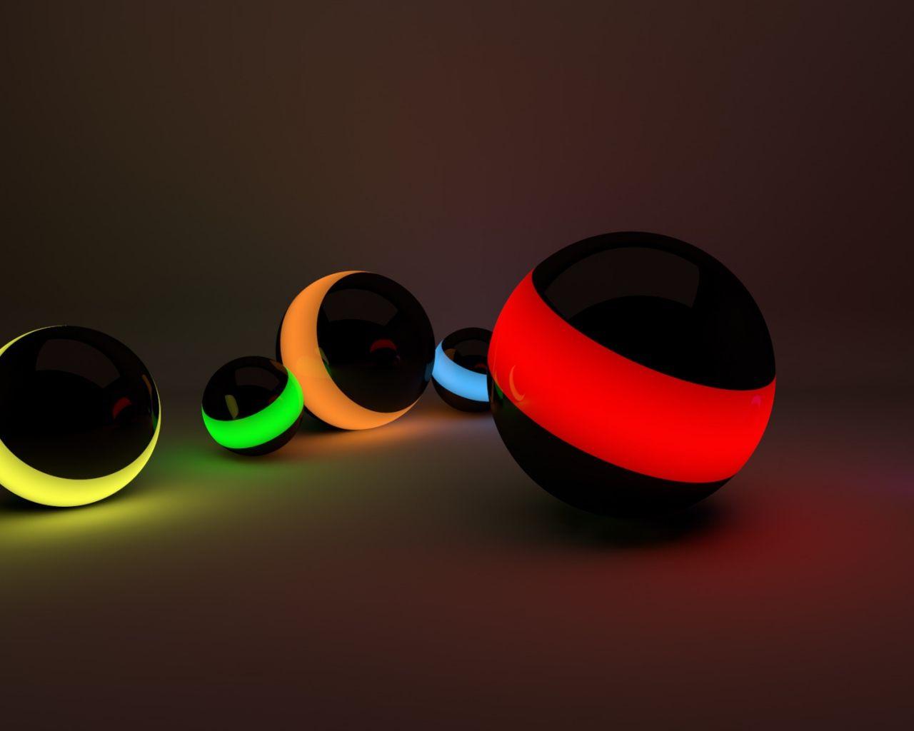 1280x1024 Wallpaper Balls Lines Neon Lights Hd Wallpapers For Laptop Laptop Wallpaper Desktop Pictures