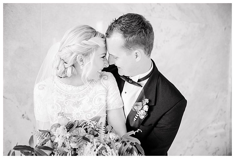 Black and white candid wedding photo by Utah photographer Brooke ...