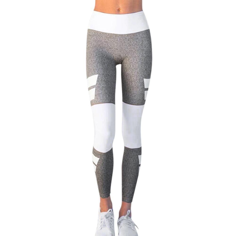 Damen Taille Yoga Fitness Leggings Jogging Gym Stretch Sport Hosen Hosen S-XL