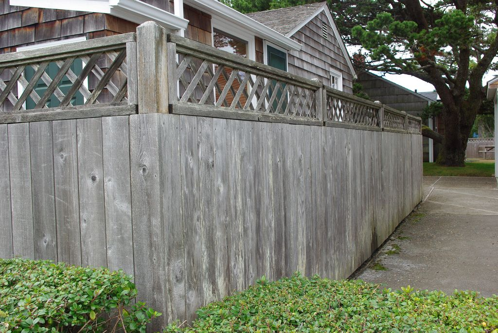 Weathered Redwood Fence Fence Design Pergola Designs Redwood Fence