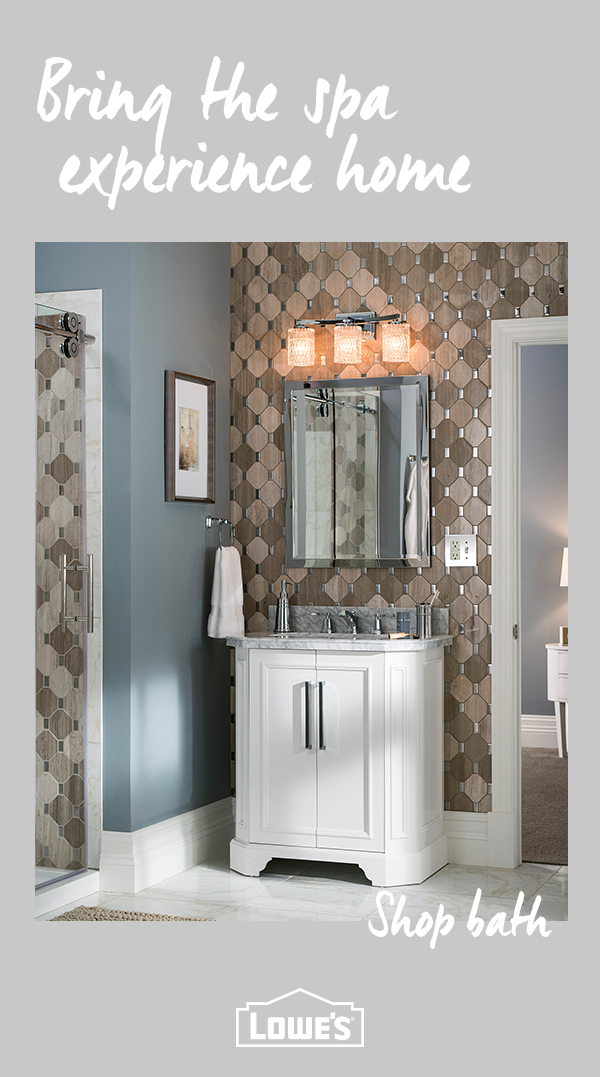 Transform Your Bathroom Into A Relaxing Oasis With Must Have Bath Decor From Lowe S From Bathtubs To Vaniti Rustic Bathroom Decor Bathroom Remodel Master Home