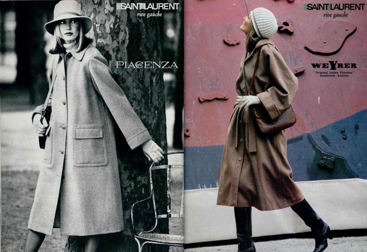 saint laurent rive gauche adv vintage fashion