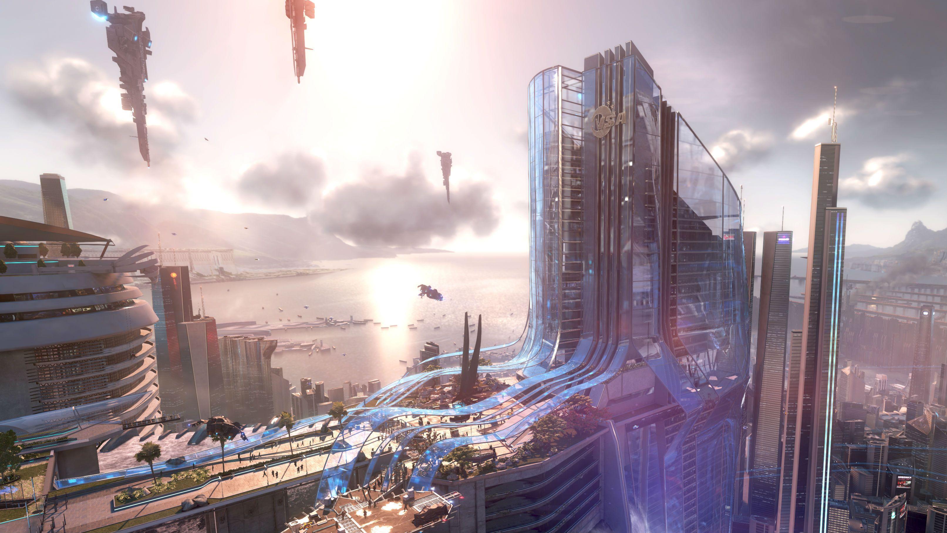 Ps4 Games Science Fiction : Sci fi city picture wallpaper pinterest