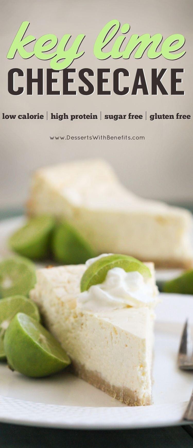 Healthy Key Lime Cheesecake Gluten Free, Sugar Free