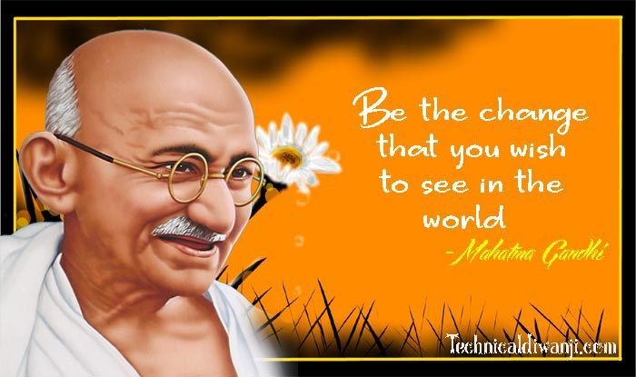 Gandhi Jayanti 2018. The father of the nation, fondly