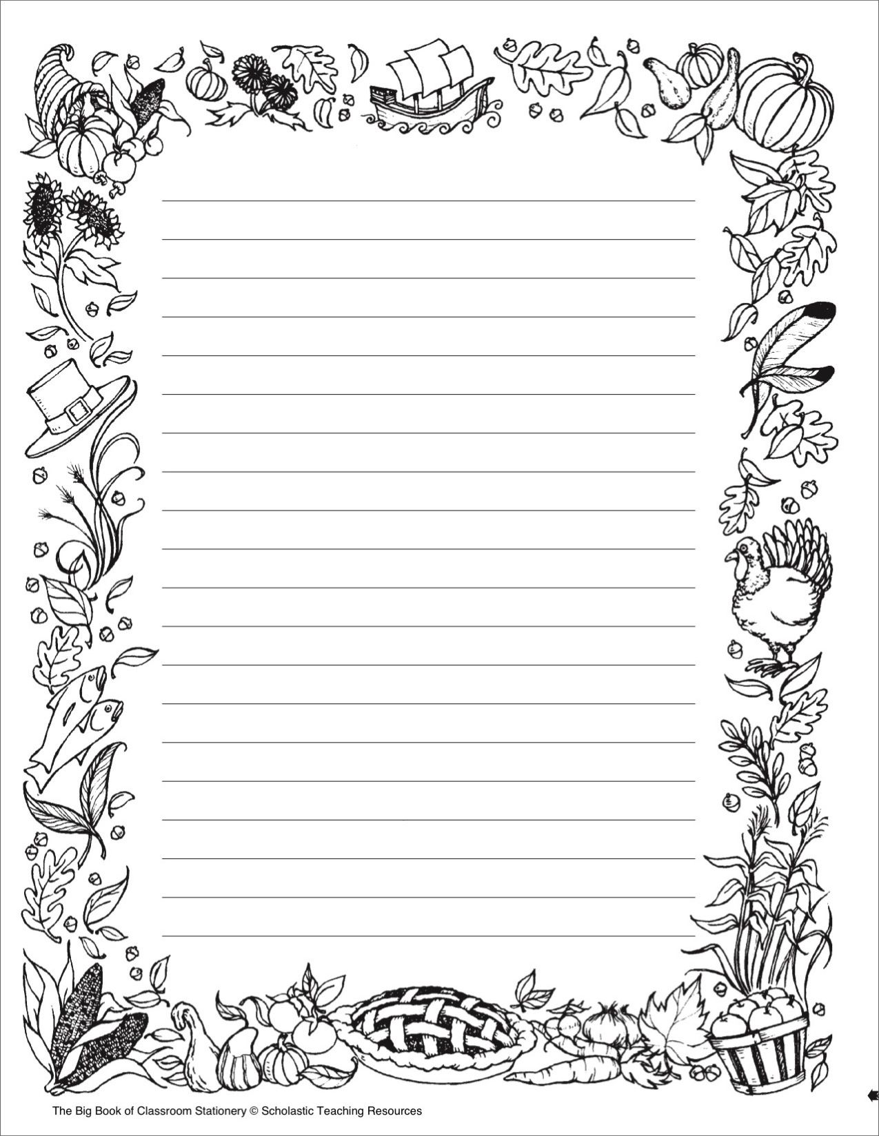 photograph about Free Printable Stationery Black and White called Black And White Printable Stationary - Printable 360 Stage