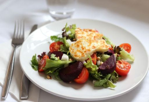 Halloumi and Beetroot Salad Recipe on Yummly