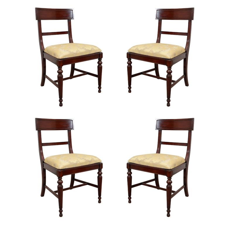 Set Of Four English Regency Chairs