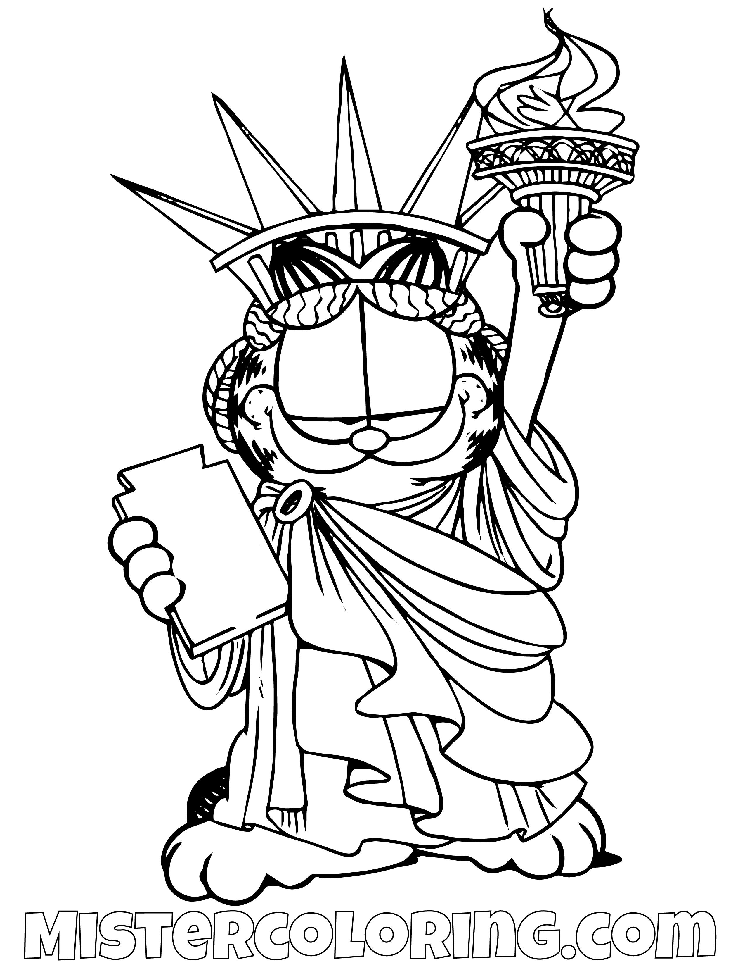Pin By Mister Coloring On Garfield Coloring Pages For Kids In 2018