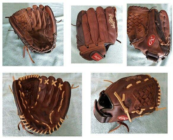Rawlings Player Preferred Relaced In Contrasting Cream Colored Lace Custom Baseballs Baseball Glove Cream Color