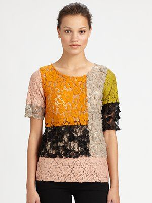 Moschino cheap and chic patchwork lace dress