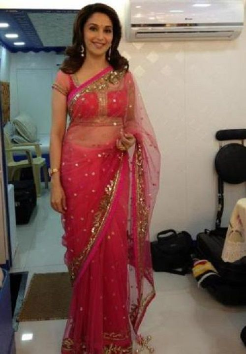 Image result for madhuri red saree