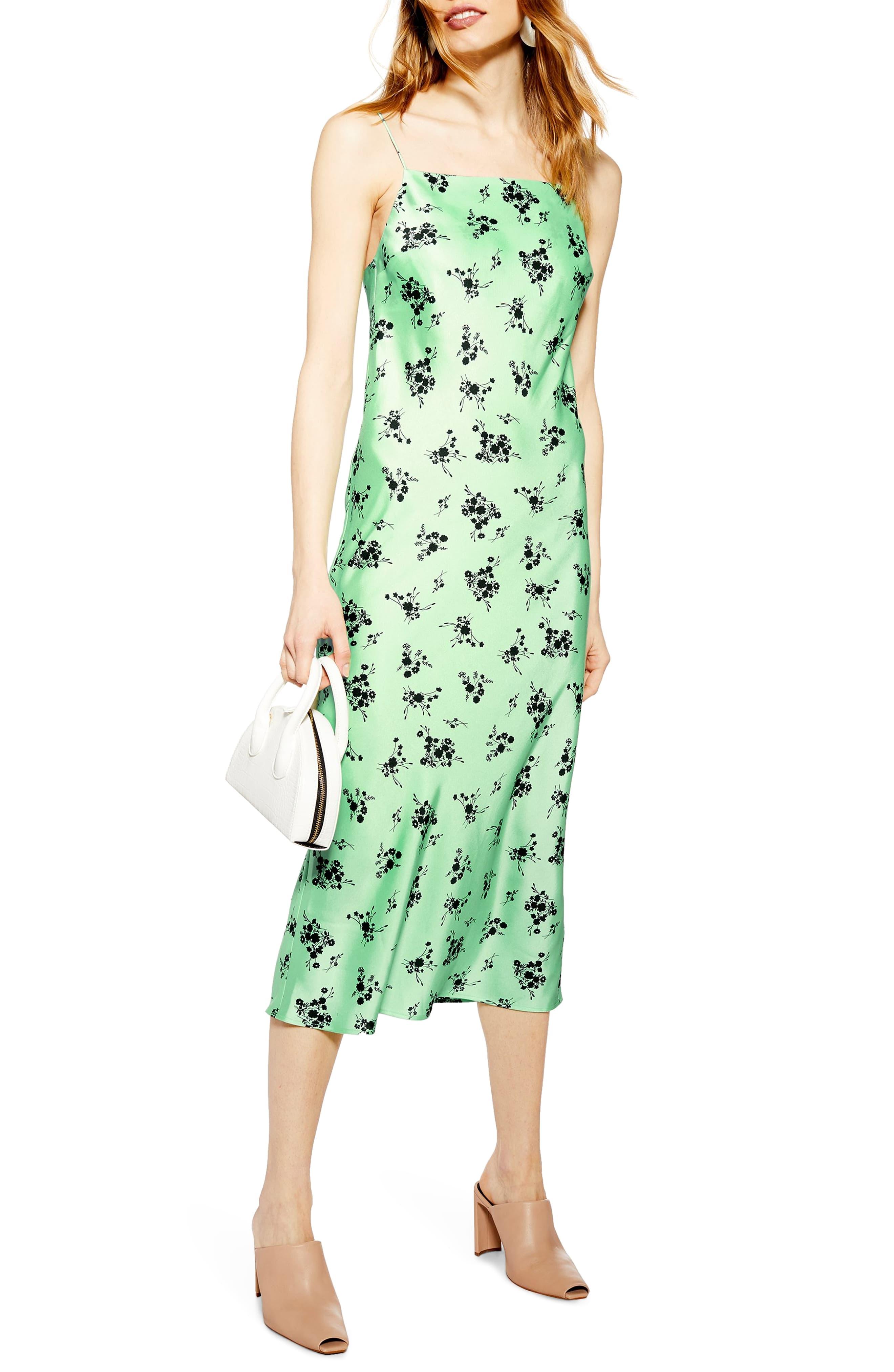Topshop Apple Flower Satin Slip Dress | Apple dress, Dresses
