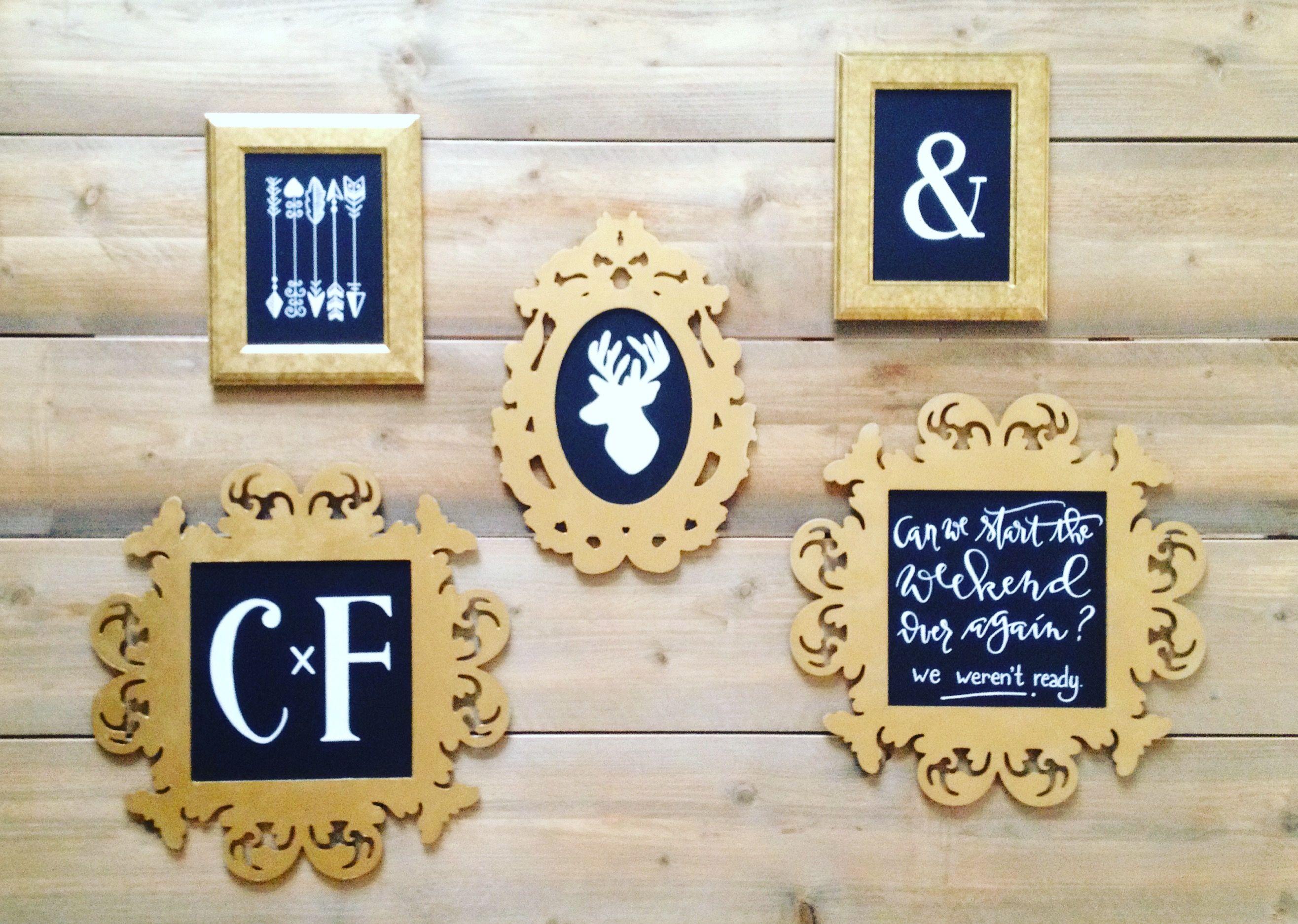 Vicky Chalks A Lot - Chalk gallery wall, www.vickychalksalot.com