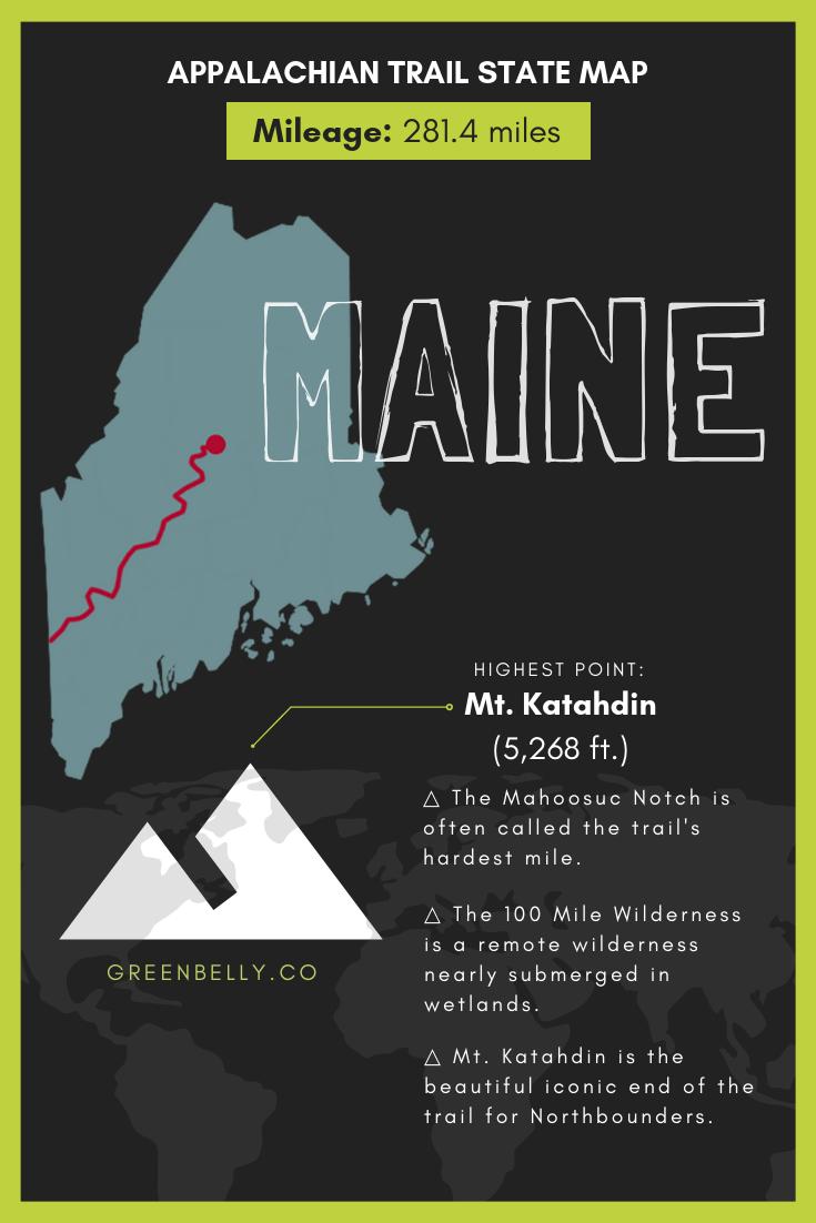 Appalachian Trail Map (Interactive) in 2019 | Appalachian Trail Maps ...