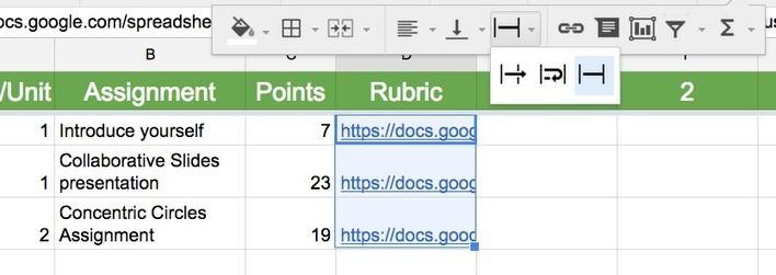 Google Sheets Clip the Text (Word wrapping) 21st century - google spreadsheets