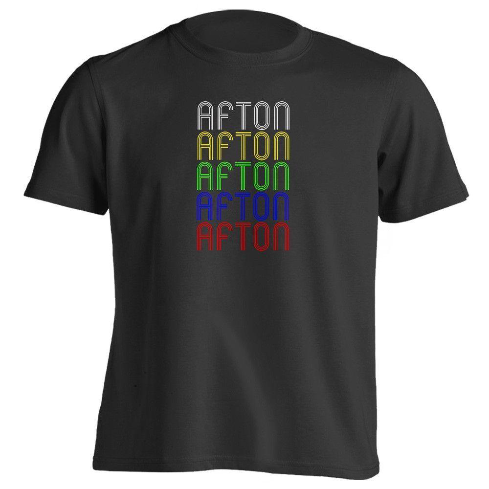 Retro Hometown - Afton, IA 50830 - Black - Small - Vintage - Unisex - T-Shirt