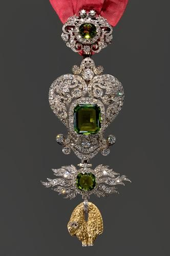 Jewel of the Order of the Golden Fleece     around 1870/1890 Once held hope diamond of Louis XV