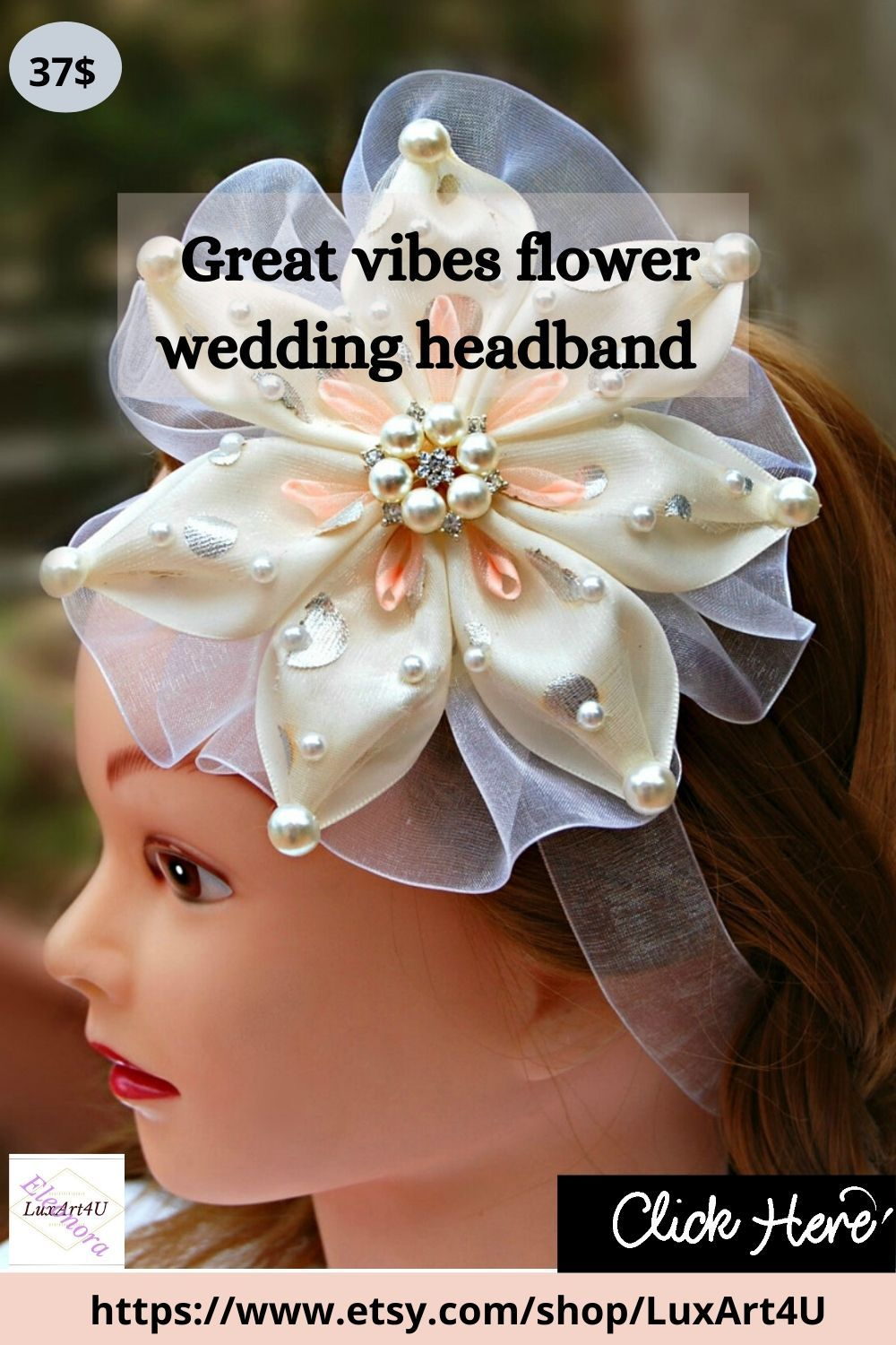Modern Wedding Prom Bridesmaid Wedding Ivory and Gold Hair Comb Holiday Comb Bride Bride/'s Mother Floral comb Flower girl